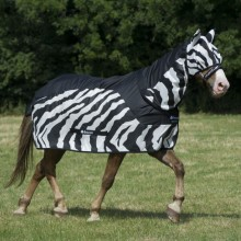 Bucas Buzz Off Zebra Fly/Rain Sheet Neck Cover