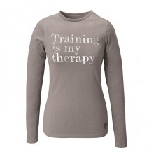 Caldene Ladies Long Sleeve Training Slogan T Shirt (Grey)