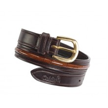 Caldene Narva Ladies Crocodile Belt (Brown)