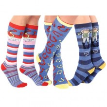 Carrots Bang on the Door Blue Knee Sock (Triple Pack)