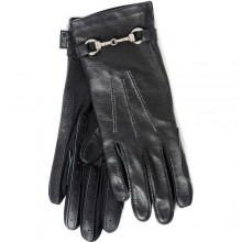 Carrots Black Leather Elegance Adults Riding Gloves