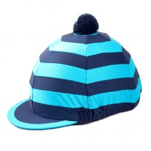 Carrots Blue & Navy Stripe Hat Cover