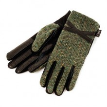 Carrots Country Riding Gloves Black and Green