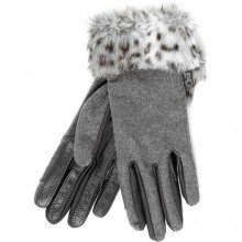 Carrots Grey Fur Trim Country Gloves