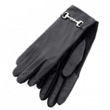 Carrots Black Leather Snaffle Gloves