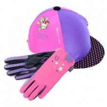 Carrots Bang on the Door Spotty Pony Princess Kids Hat Cover & Glove Set