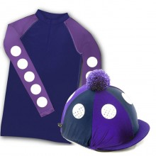 Carrots Adult XC Top & Hat Cover Set (Purple/Navy)