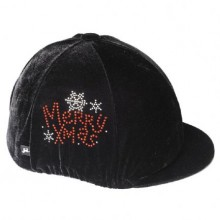 Carrots Black Velvet Sparkly Xmas Over The Peak Hat Cover