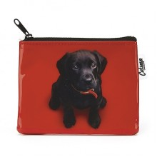 Jellycat Catseye Black Lab On Red Coin Purse