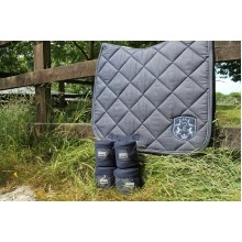 Esperado Glamour Dressage Saddle Pad & Bandage Set (Navy)