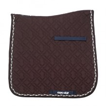 Euro-Star Braidy Classic Dressage Saddle Pad & Bandage Set (Chocolate)