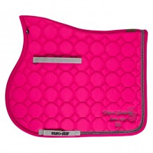 Euro-Star Crystal Dressage Saddle Pad (Raspberry)