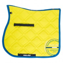 Euro-Star Excellent Dressage Saddle Pad & Bandage Set (Lime)