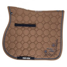 Euro-Star Lotus Dressage Saddle Pad & Bandage Set (Umber)