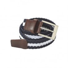 Euro-Star Plaited Belt (Navy/White)