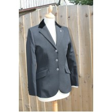 Euro-Star Childs/Ladies Jeanette Velvet Collar Show Jacket (Black)