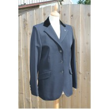 Euro-Star Ladies Jeanette Velvet Collar Show Jacket (Navy)