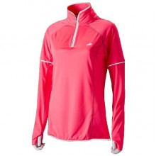 Harry Hall Hi-Viz Ladies Long Sleeved Zip Top (Fluorescent Pink)
