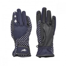 Harry Hall Farley Waterproof Reflective Junior Riding Glove (Navy)