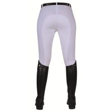 HKM Stretchy Childs Full Seat Competition Breeches (White)