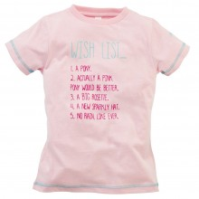 Harry Hall Wish List Junior Tee Shirt (Pink)