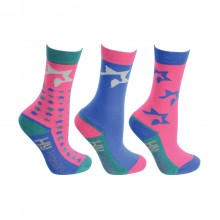 Hy Zeddy Childs Socks (Pack of Three) Flamingo Pink