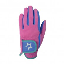 Hy5 Childs Zeddy Riding Gloves (Flamingo Pink)