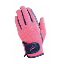 Hy5 Childs Everyday Two Tone Riding Gloves (Navy/Raspberry)