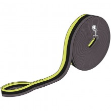 Imperial Riding Nylon Lunge Rein (Lime/Grey)