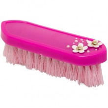 Imperial Riding Fashion Flower Hard Dandy Brush (Pink)