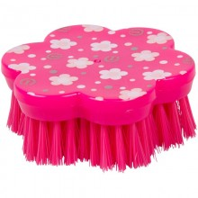 Imperial Riding Fashion Flower Shape Head Brush (Pink)