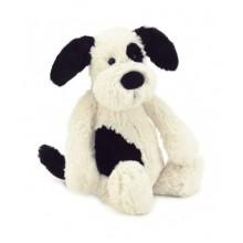 Jellycat Bashful Black & Cream Puppy (Medium)
