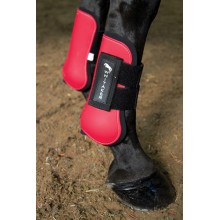 John Whitaker Tendon & Fetlock Boot Set (Red)