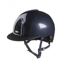 KEP Chromo S (Shine) Riding Helmet with Swarvoski Crystals (Navy)