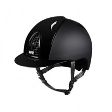 KEP Chromo T (Textile) Riding Helmet with Polished Finish (Black)