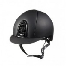 KEP Chromo T (Textile) Riding Helmet (Black with Black Grid)