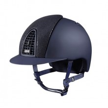 KEP Chromo T Riding Helmet with Glitter Front (Navy with Navy Grid)
