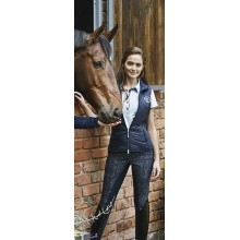 Kingsland Ella Ladies Full Seat Print Breeches (Navy)