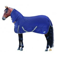 Masta Basics 200G Fixed Neck Turnout Rug (Navy/Light Grey)