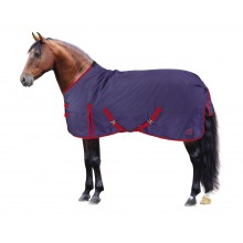 Masta Basics 200G Standard Neck Turnout Rug (Navy/Red)