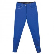 Saddlecraft Childs Contrast Sparkly Breeches (Royal Blue)