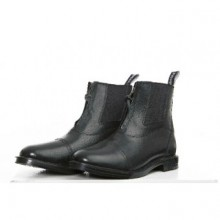 Sherwood Forest Derby Leather Zip Front Paddock Boot (Black)