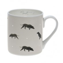 Sophie Allport Black Labrador (Sit!) Coloured Large Mug